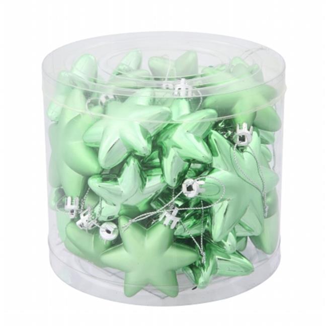 2'' Celadon Green Stars Asst 36/Box - image 1 of 1