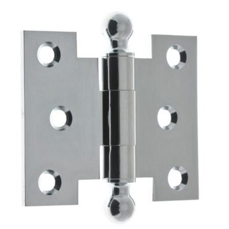 Idh by St. Simons 80252-026 Solid Brass Parliament Hinges with Ball Finials, Polished Chrome - 2.5 x 3 in. Chrome Solid Brass Hinges