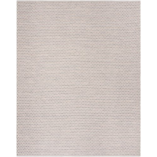 Highland Dunes Church Street Hand-Woven Cotton Ivory/Brown Area Rug