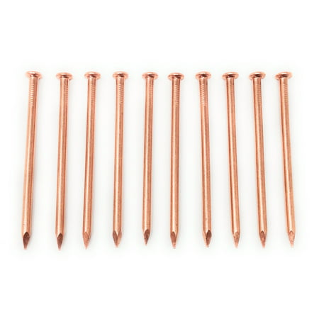 5 Inch Copper Nails - Pack of 10 Massive Solid Copper Nail Spikes