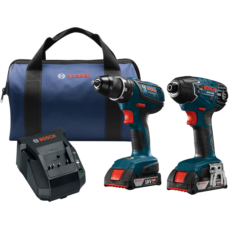 """Bosch CLPK232A-181 18-Volt Compact Tough 1 2"""" Drill Driver & 1 4"""" Hex Impact... by Bosch"""