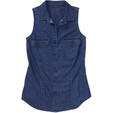 28011ec0c54bb Faded Glory - Women s Sleeveless Shirt - Walmart.com