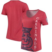 St. Louis Cardinals Women's Static Rain V-Neck T-Shirt - Red