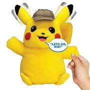 "Pokemon Detective Pikachu Movie Interactive Talking Plush Toy - 2 Voice Modes,  12"""