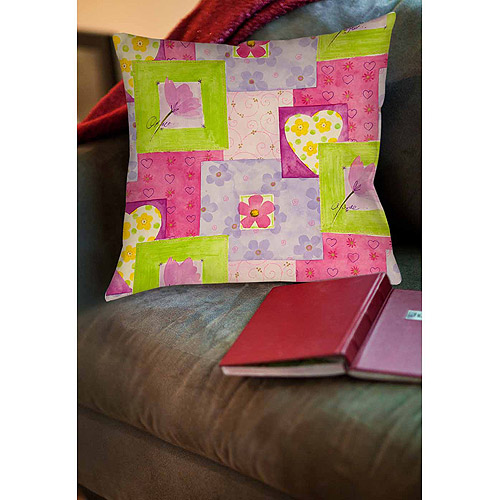 Thumbprintz Hearts and Flowers Indoor Pillow