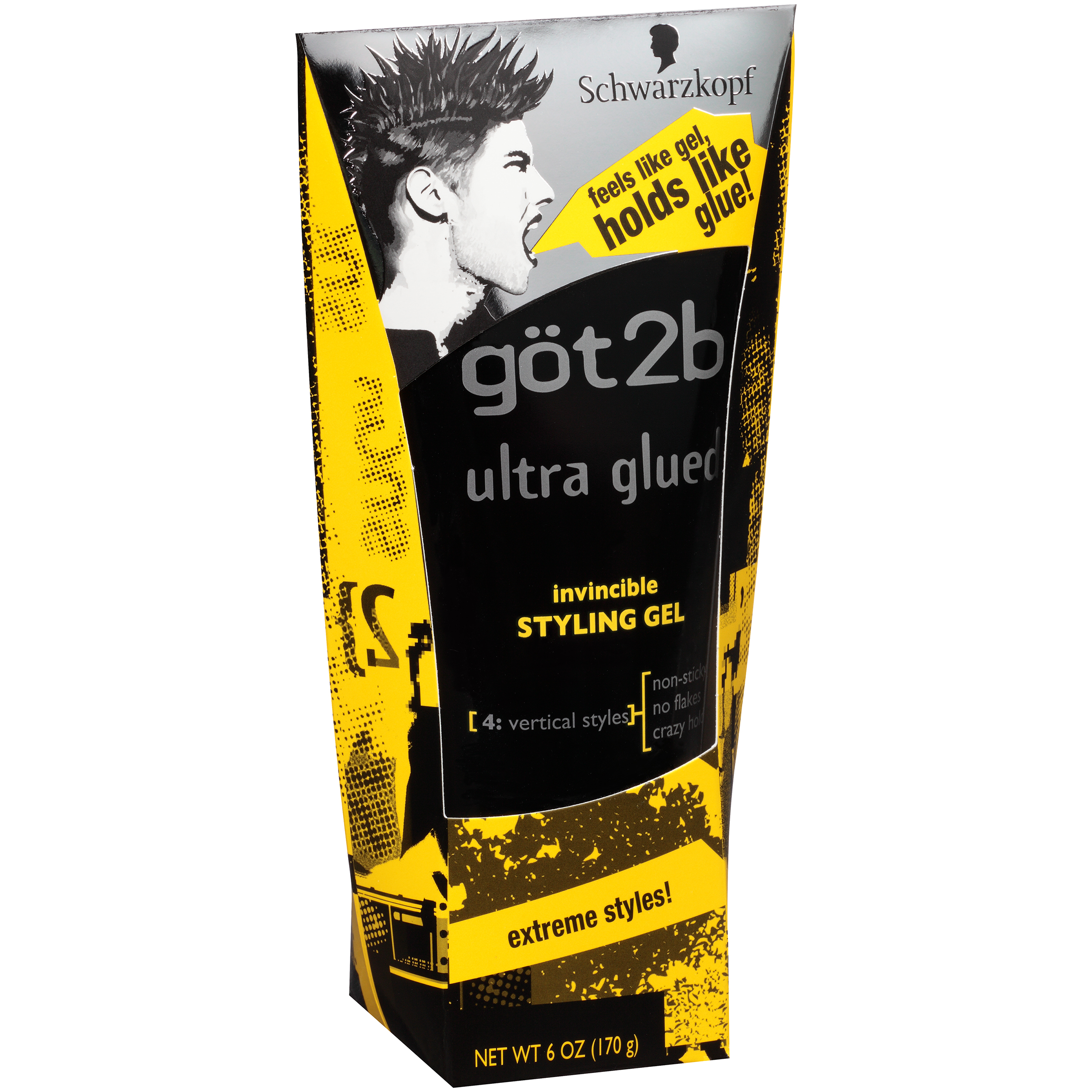 got2b Ultra Glued Invincible Styling Gel, 6 oz