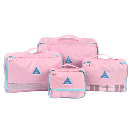 4a8029d8af6f 4pcs Travel Packing Cubes Clothes Storage Bags Suitcase Luggage ...