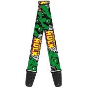 hulk marvel comics superhero destruction guitar strap
