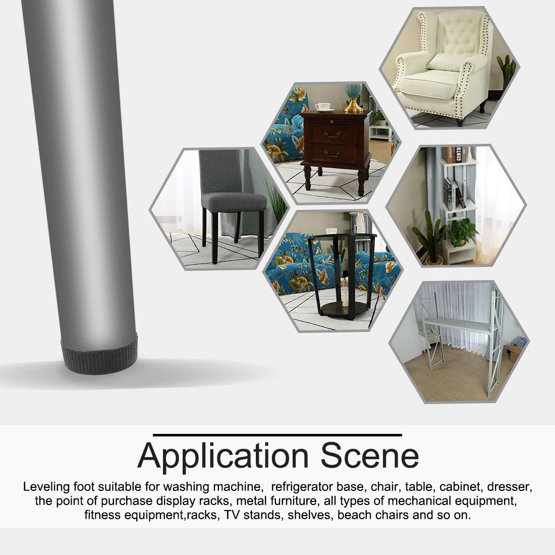 M6 x 18 x 20mm Leveling Feet Furniture Adjustable Leveler for Table Leg 2pcs - image 4 of 7