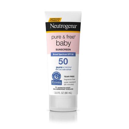 Neutrogena Pure   Free Baby Mineral Sunscreen Broad Spectrum Spf 50  3 Fl  Oz
