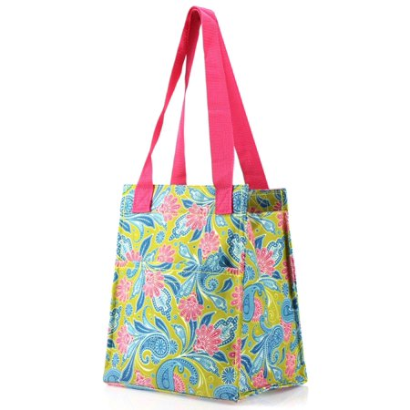 Zodaca Stylish Women Insulated Lunch Tote Bag Picnic Travel Food Box Zipper Carry Bag