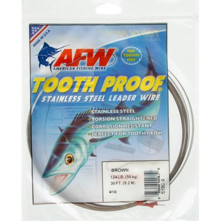 American fishing wire tooth proof stainless steel single for Fish wire walmart
