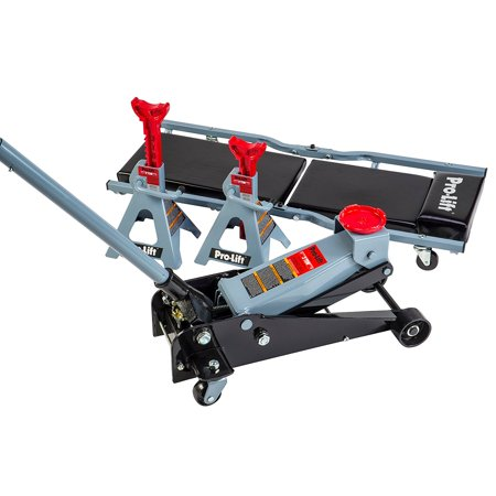 Pro Lift G-4630JSC 3 Ton Heavy Duty Floor Jack / Jack Stands and Creeper Combo