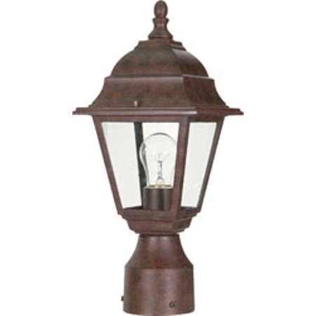 Replacement for 60/547 BRITON 1 LIGHT 14 INCH POST LANTERN WITH CLEAR GLASS OLD BRONZE TRADITIONAL replacement light bulb lamp