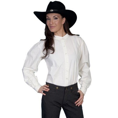 - Scully Old West Shirt Womens Range Wear Long Sleeve Ranch Blouse RW569