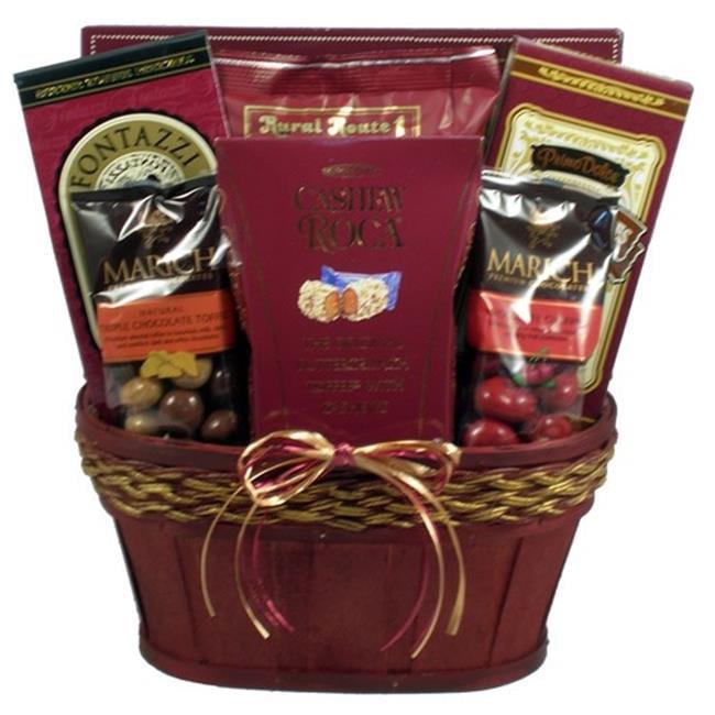 Gift Basket Drop Shipping GoEl Gourmet Elegance, Valentines Day Gift Basket - Burgundy