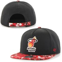 Miami Heat '47 Brand Drytop Adjustable Snapback Hat - Black - OSFA