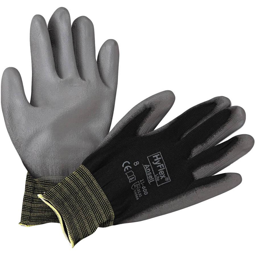 AnsellPro - HyFlex Lite Gloves, Black/Gray, Size 8