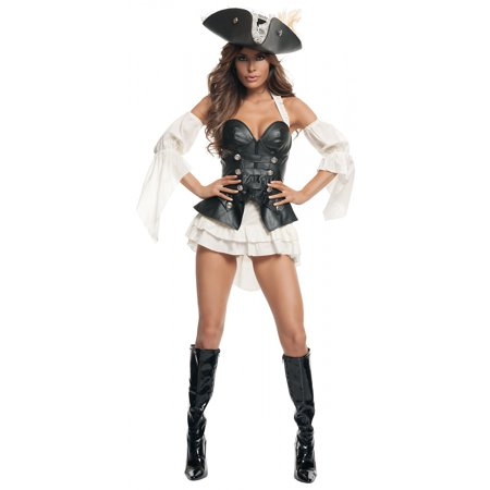 Black Pearl Pirate Sexy Adult Costume