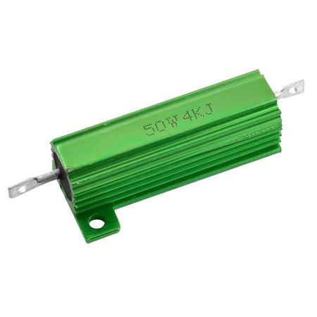 Unique Bargains 50W Watt 4K Ohm Aluminum Case Wirewound Resistor for Transducer