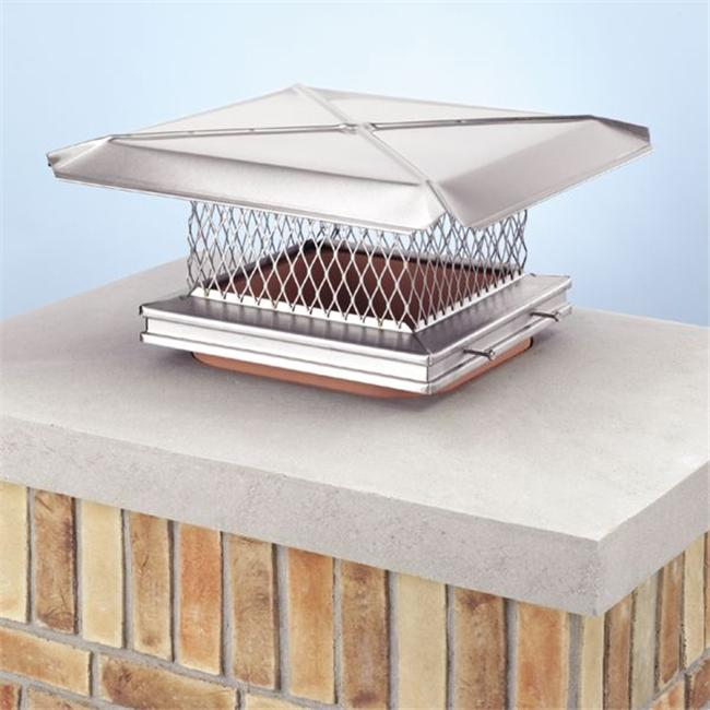 Lindemann 100198 9 Inches x 28 Inches Stainless Steel Gelco Chimney Cover