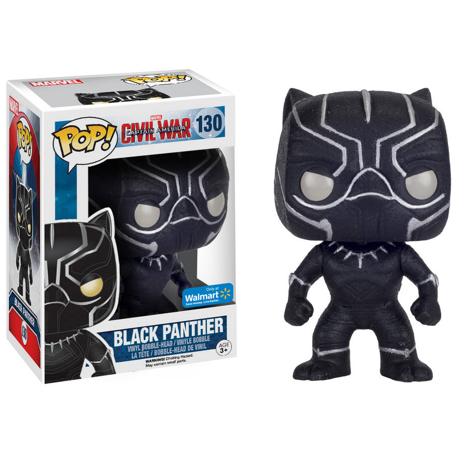 Funko POP Marvel: Captain America 3: Civil War, Black Panther (Onyx) Walmart Exclusive