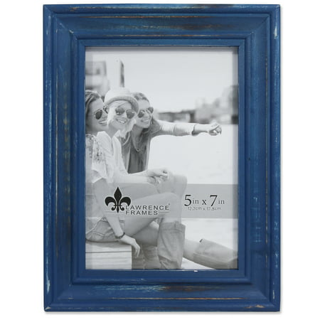 - 5x7 Durham Weathered Navy Blue Wood Picture Frame