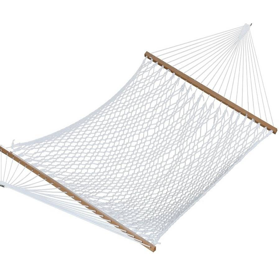 Polyester Rope Hammock, Double (White)