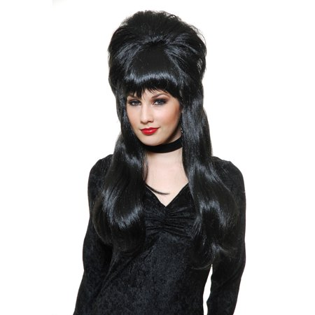 Halloween Mistress Of The Dark Wig - Magenta Rocky Horror Wig