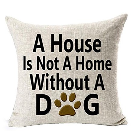 Outtop Best Dog Lover Gifts Cotton Linen Throw Pillow Case Cushion (Dog Designer Pillow)