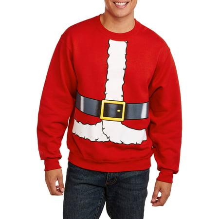 santa suit cartoon mens graphic christmas fleece - Christmas Fleece