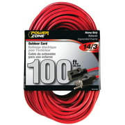 Powerzone ORK506735 SJTW Heavy Duty Extension Cord, 14/3, 100 ft, Double