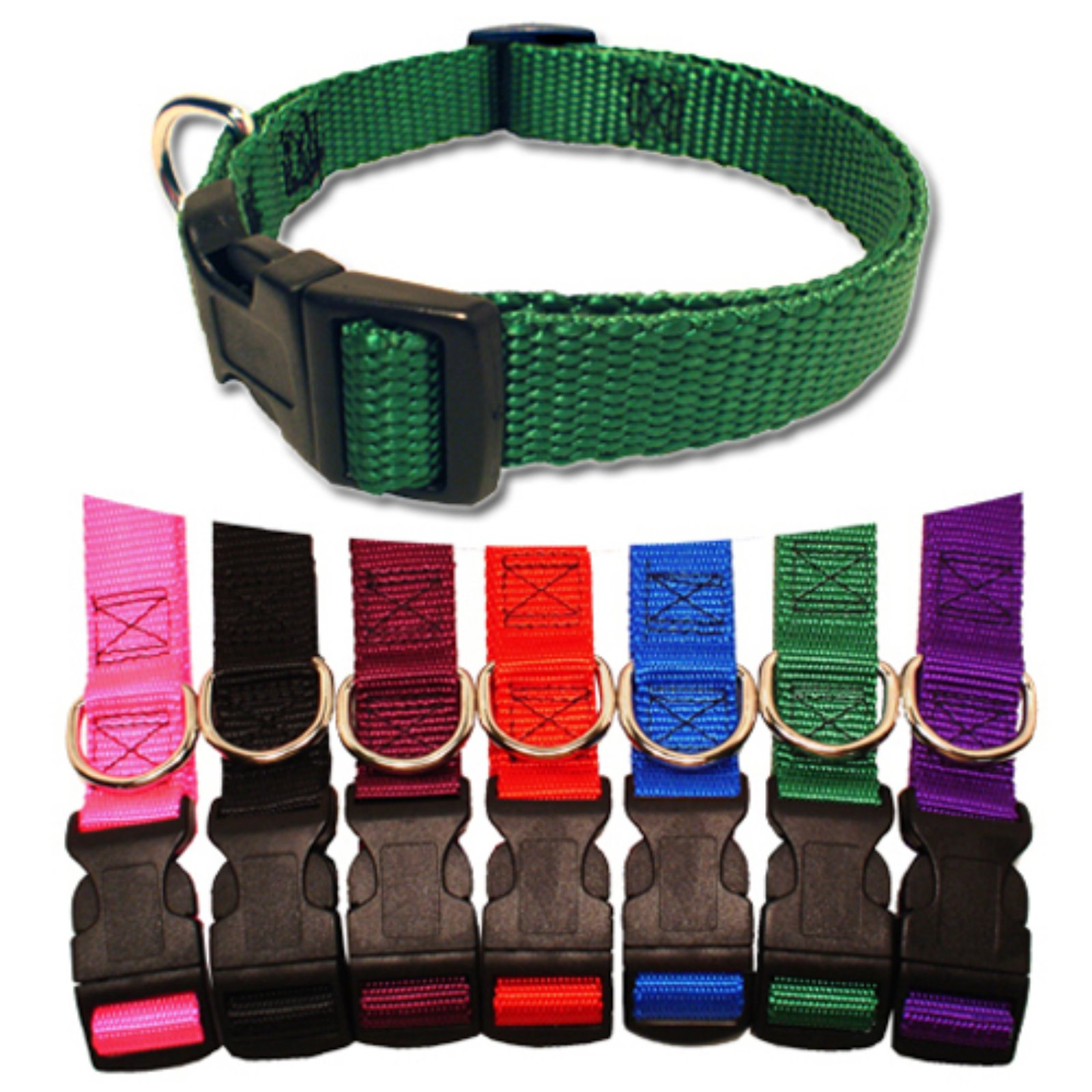 Majestic Pet 14'' - 20'' Adjustable Collar in Multiple Colors Fits Most 40-120 lbs Dogs