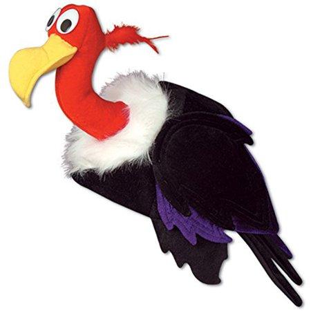 Beistle Adult Plush Over The Hill Vulture Buzzard Hat Cap](Halloween Vulture Buzzard)