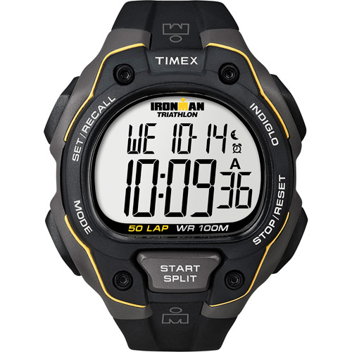 Timex Men's Ironman Classic 50 Full-Size Watch, Black Resin Strap