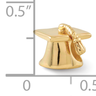 1bc5fcfba 925 Sterling Silver Gold Plated Charm For Bracelet Graduation Cap Bead  School Fine Jewelry Gifts For Women For Her