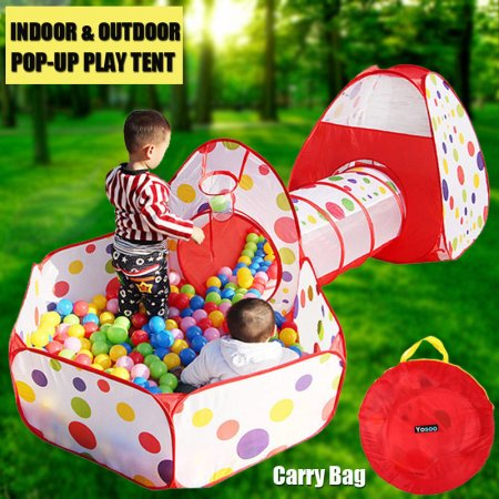 Kids Play Tent With Tunnel And Ball Pit Glonova 3 In 1
