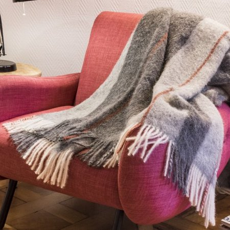 Brun De Vian Tiran Alpaca Throw