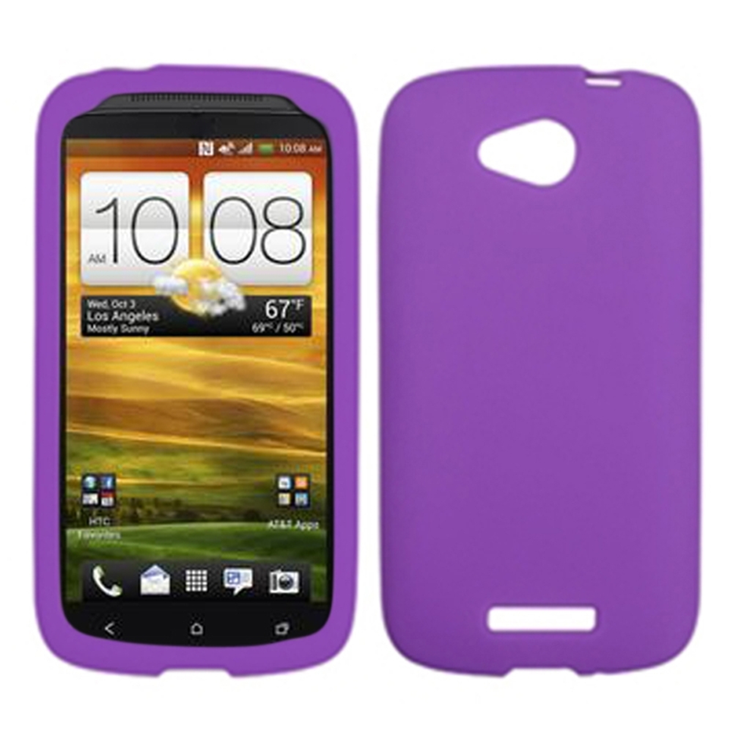 Insten Solid Skin Case (Electric Purple) for HTC: One VX