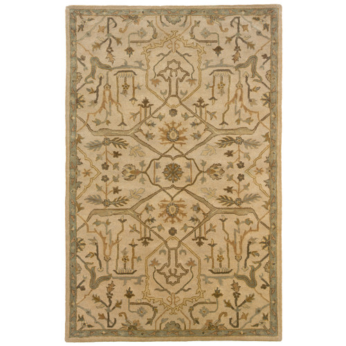 LR Resources Majestic Beige Area Rug