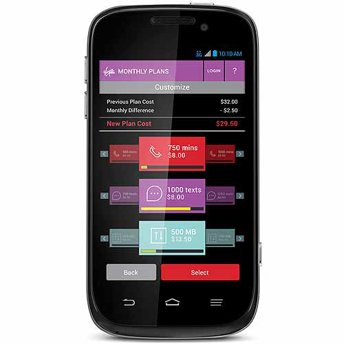 Virgin Mobile Custom ZTE Emblem Prepaid Smartphone