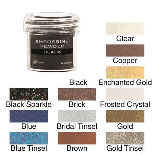 Embossing Powder 1oz Jar Gold Tinsel