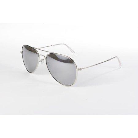 Pacific Coast Sunglasses Aviator Sunglasses Silver / Smoke Mirror Lens (Low Cost Aviator Sunglasses)