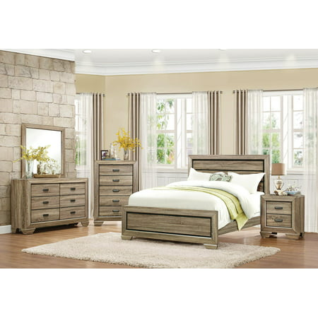 Bainbridge Casual 4 Piece California King Bedroom Set in Beechwood ()
