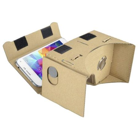 Insten DIY 3D Cardboard Virtual Reality VR Glasses Video Eyewear tool kit for iPhone 7 6 6S SE 5S / Google Android Mobile Phone (Screen <= 5.1