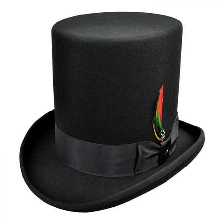 Jaxon Hats - Stovepipe Wool Felt Top Hat - S - Black - Walmart.com 2458008e700