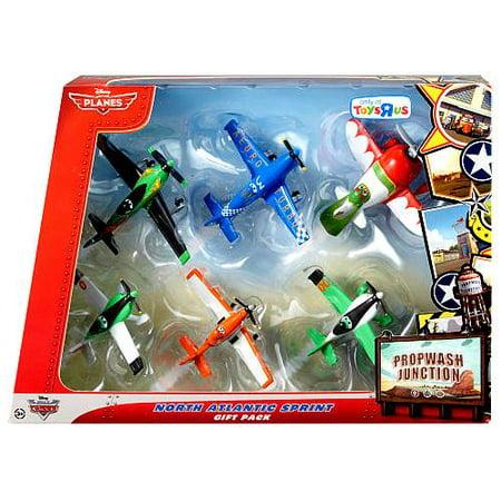 eca7baf1f3 Disney Planes Propwash Junction North Atlantic Sprint Diecast Plane 6-Pack  - Walmart.com