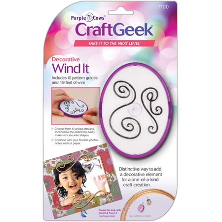 WIND IT CRAFT GEEK Purple Cows New Wire Pattern Embellishment Kit