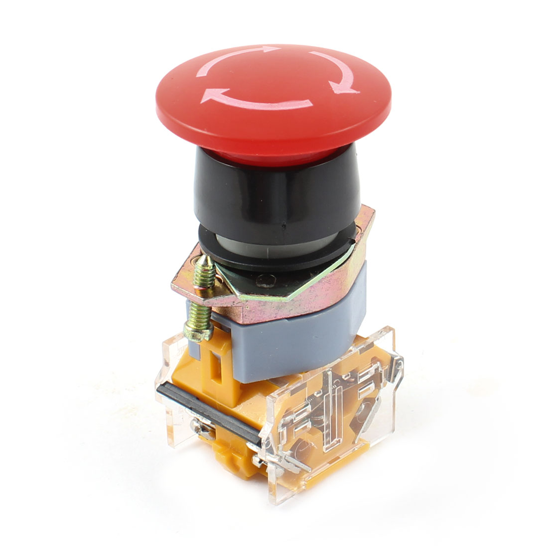 UXcell Electric 1NO 1NC Red Sign Emergency Stop Pushbutto...