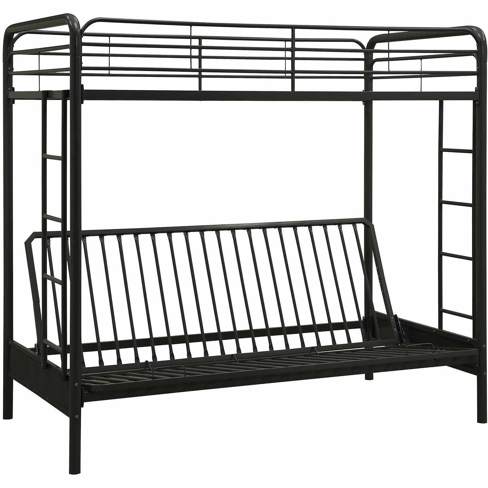 DHP Twin Over Futon Metal Bunk Bed Multiple Colors Walmart
